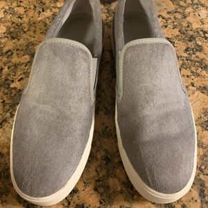VINCE Banler Slip On Calf Pony Hair Steel Gray